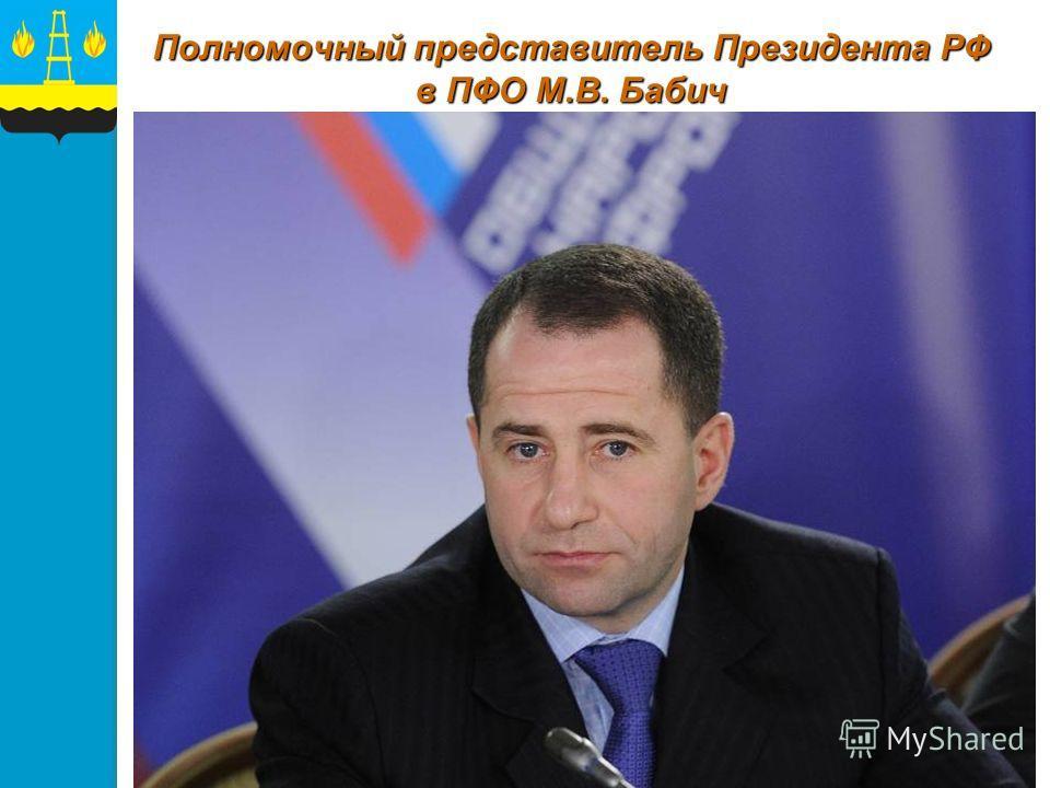 Полномочный представитель Президента РФ в ПФО М.В. Бабич