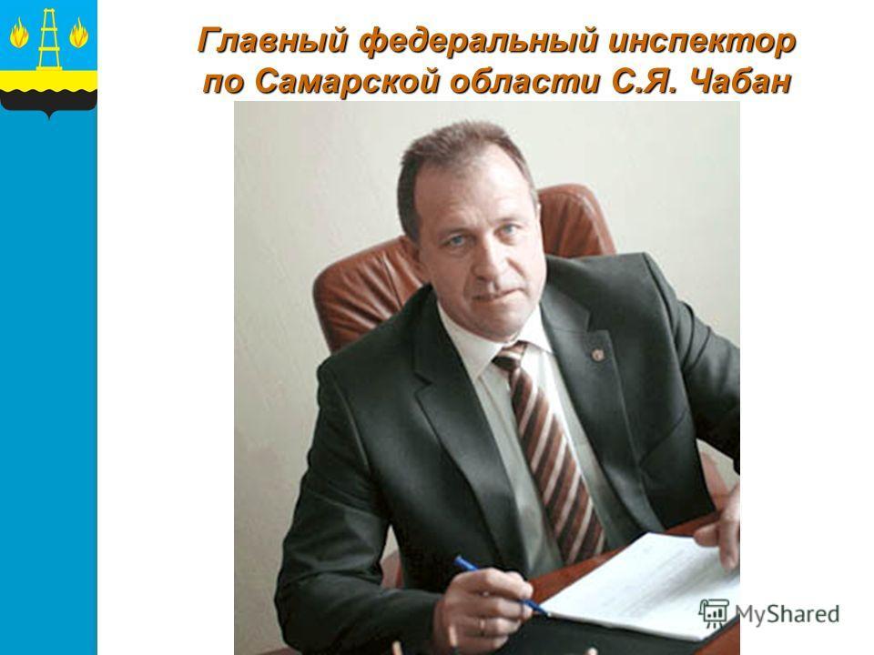 Главный федеральный инспектор по Самарской области С.Я. Чабан
