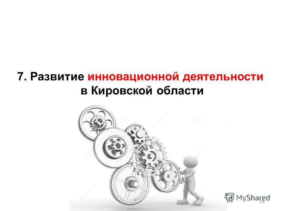 7. Развитие инновационной деятельности в Кировской области 24