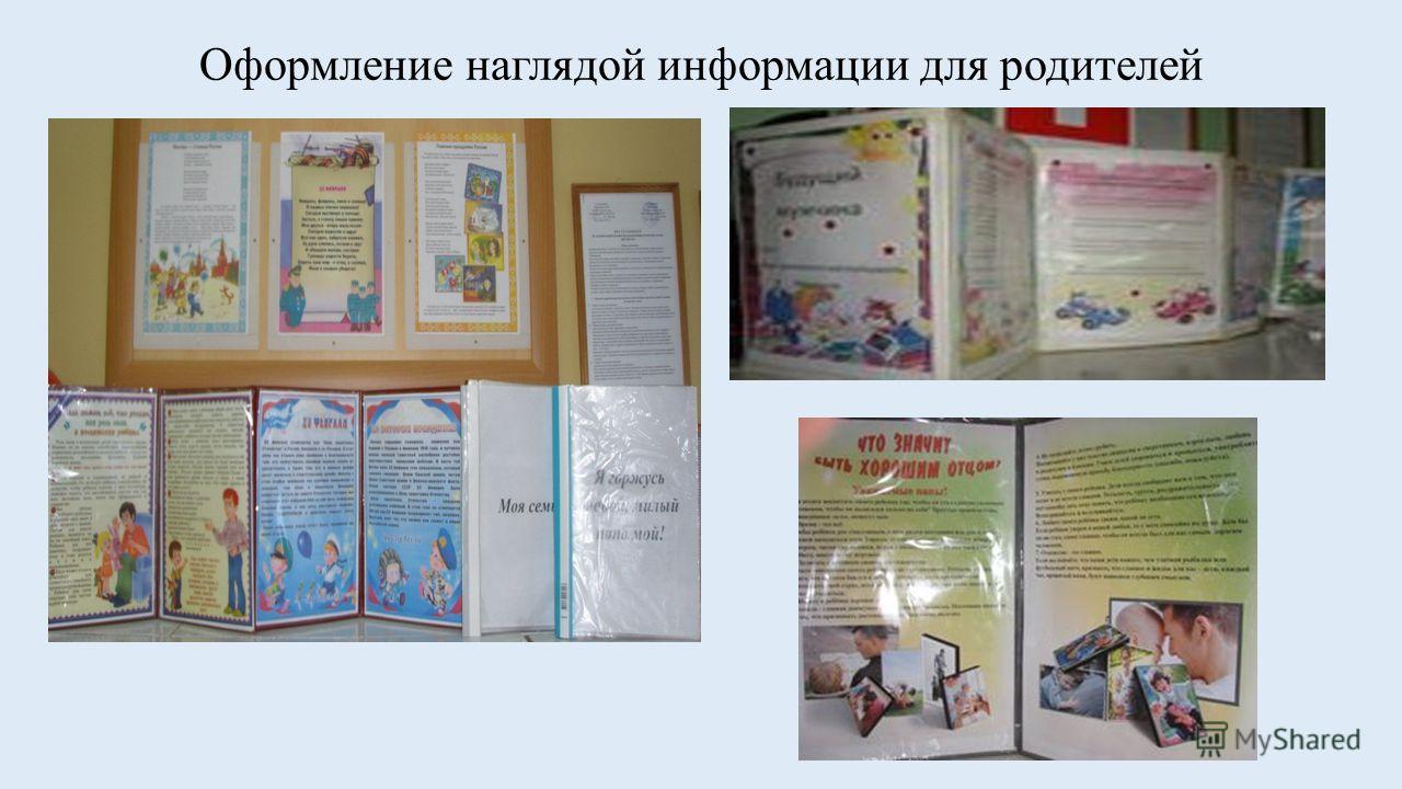 Оформление наглядой информации для родителей