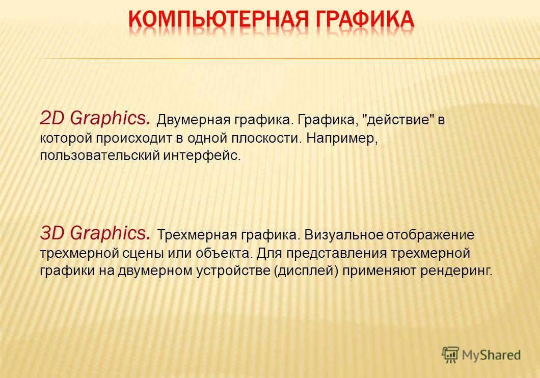 2D Graphics. Двумерная графика. Графика,