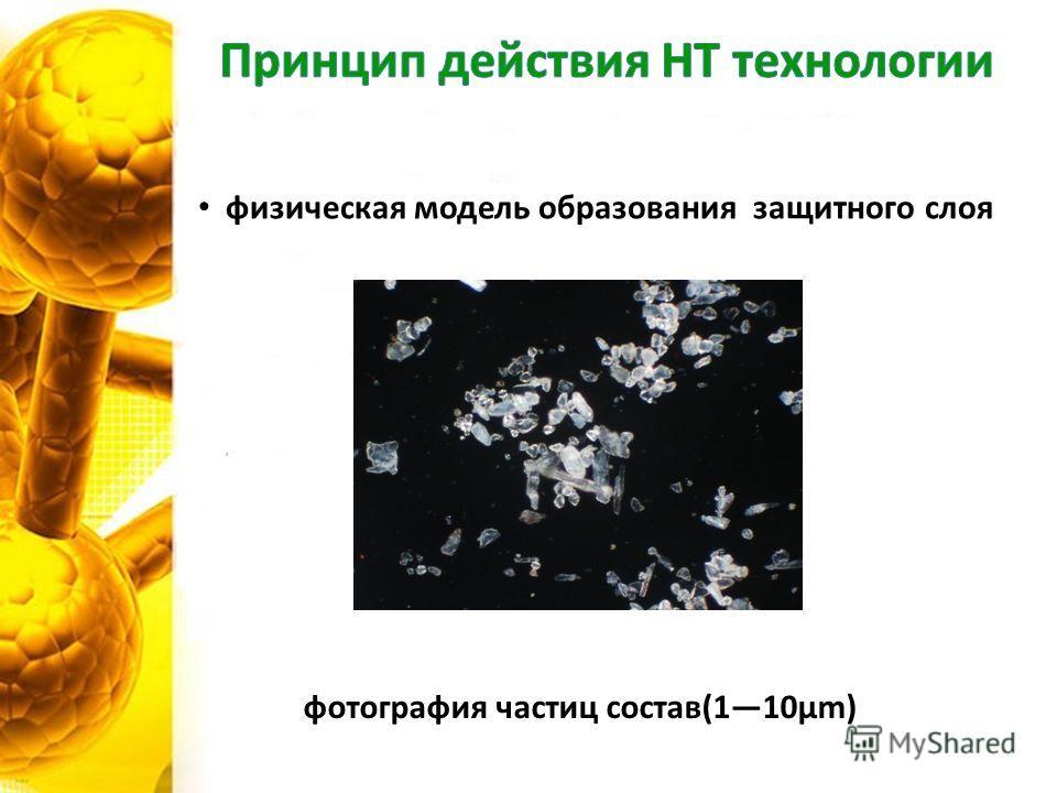 физическая модель образования защитного слоя фотография частиц состав(110μm)