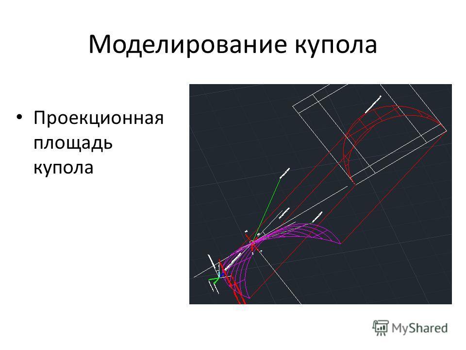 Моделирование купола Проекционная площадь купола