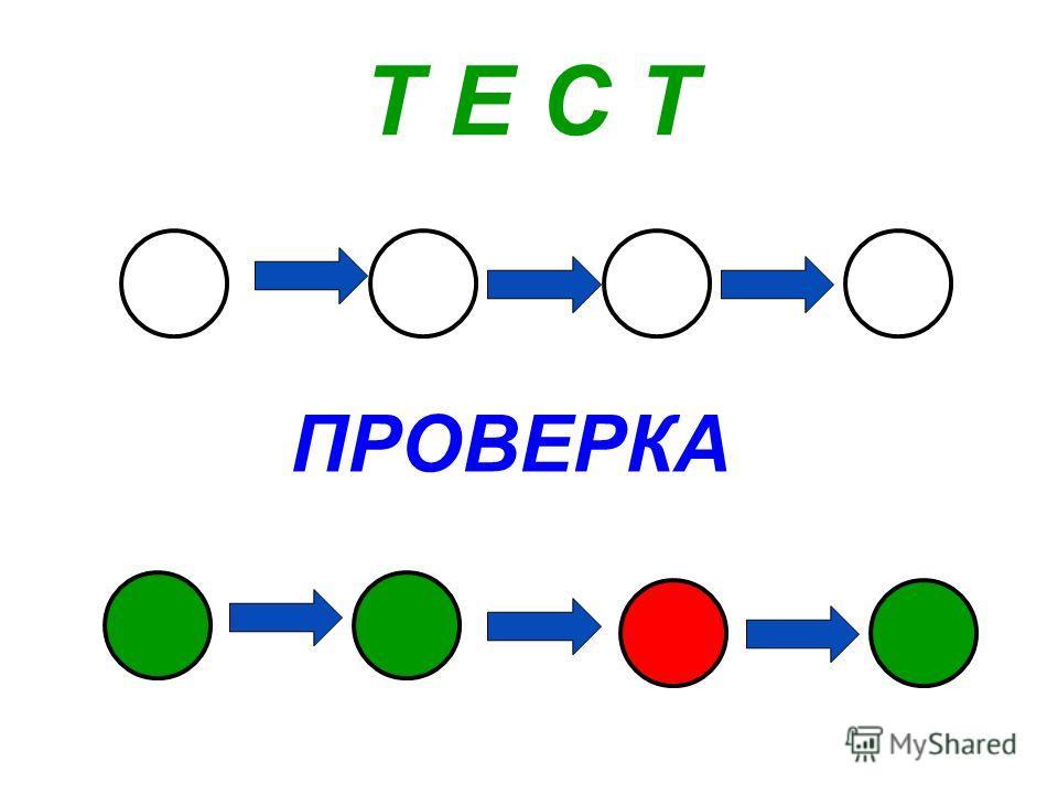 Т Е С Т ПРОВЕРКА