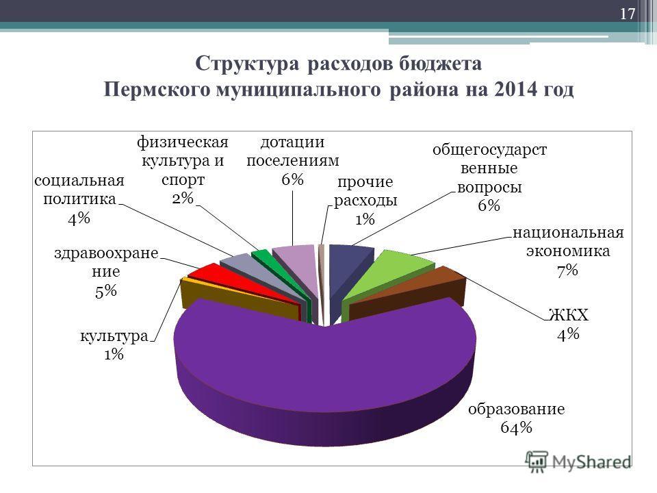 Структура расходов бюджета Пермского муниципального района на 2014 год 17