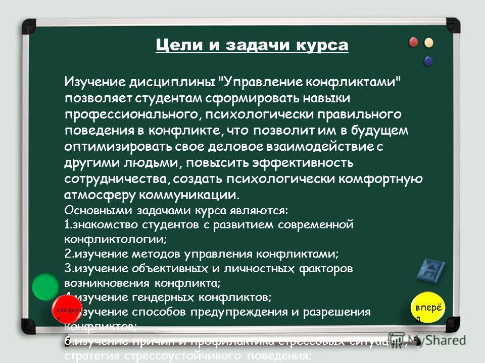 Цели и задачи курса Изучение дисциплины