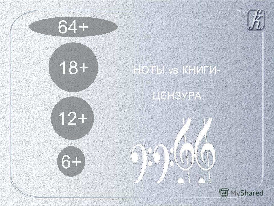 6+ 12+ 18+ 64+ НОТЫ vs КНИГИ- ЦЕНЗУРА
