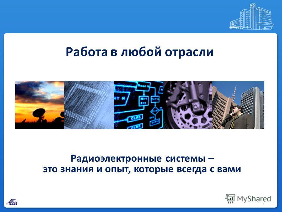 7 Работа в любой отрасли Радиоэлектронные системы – это знания и опыт, которые всегда с вами
