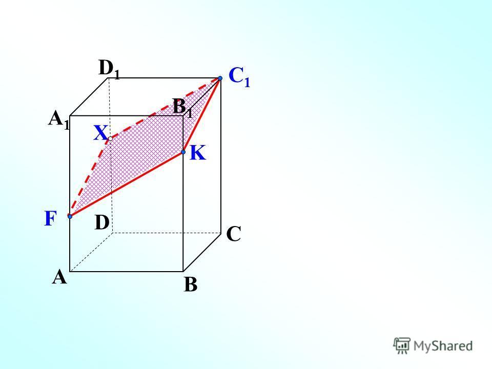 A B C D A1A1 D1D1 C1C1 K F X B1B1