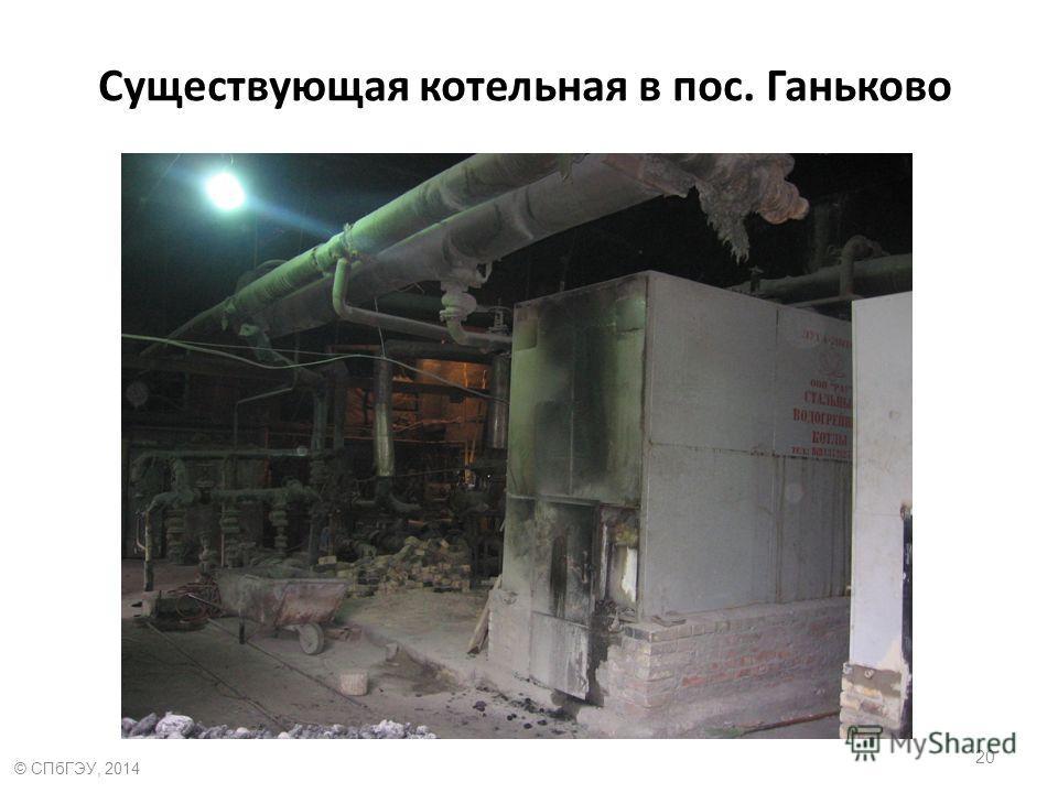 Существующая котельная в пос. Ганьково 20 © СПбГЭУ, 2014
