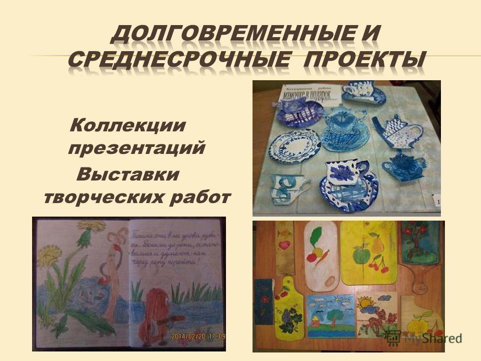 Коллекции презентаций Выставки творческих работ Книжки - коллективки