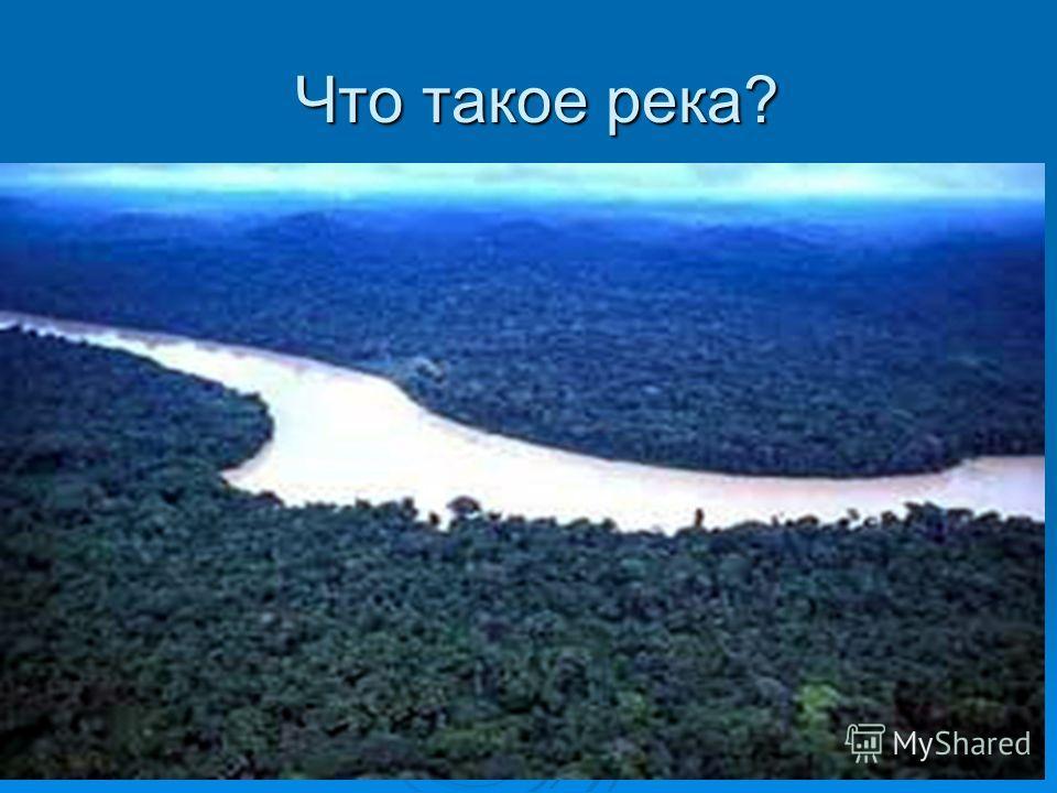 Что такое река? Что такое река?