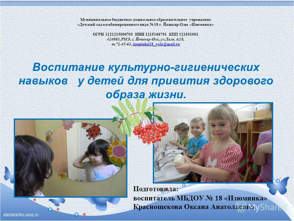 Презентация По Культурно Гигиеническим Навыкам В Младшей Группе