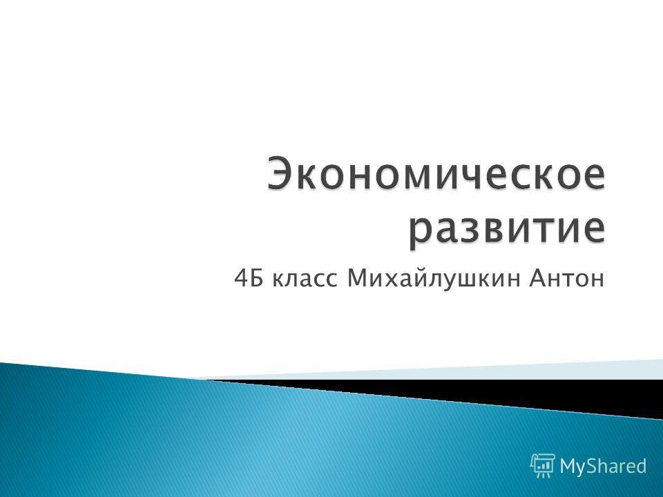 4Б класс Михайлушкин Антон