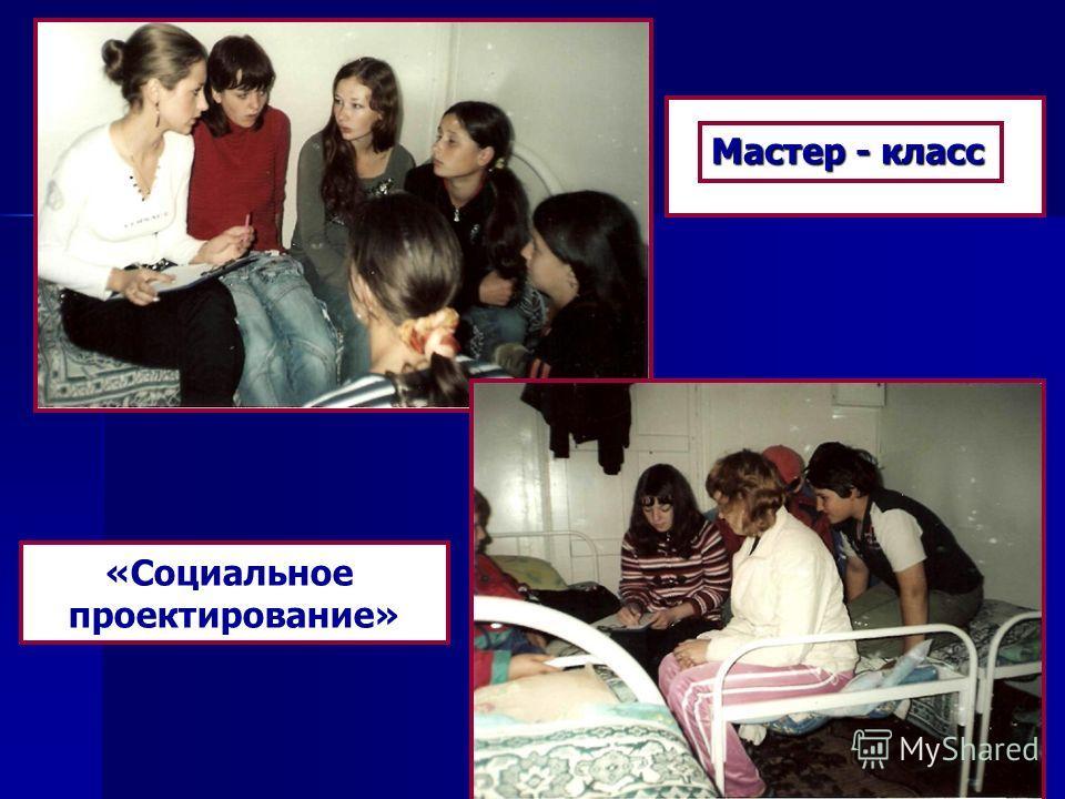 Мастер Мастер - класс «Социальное проектирование»