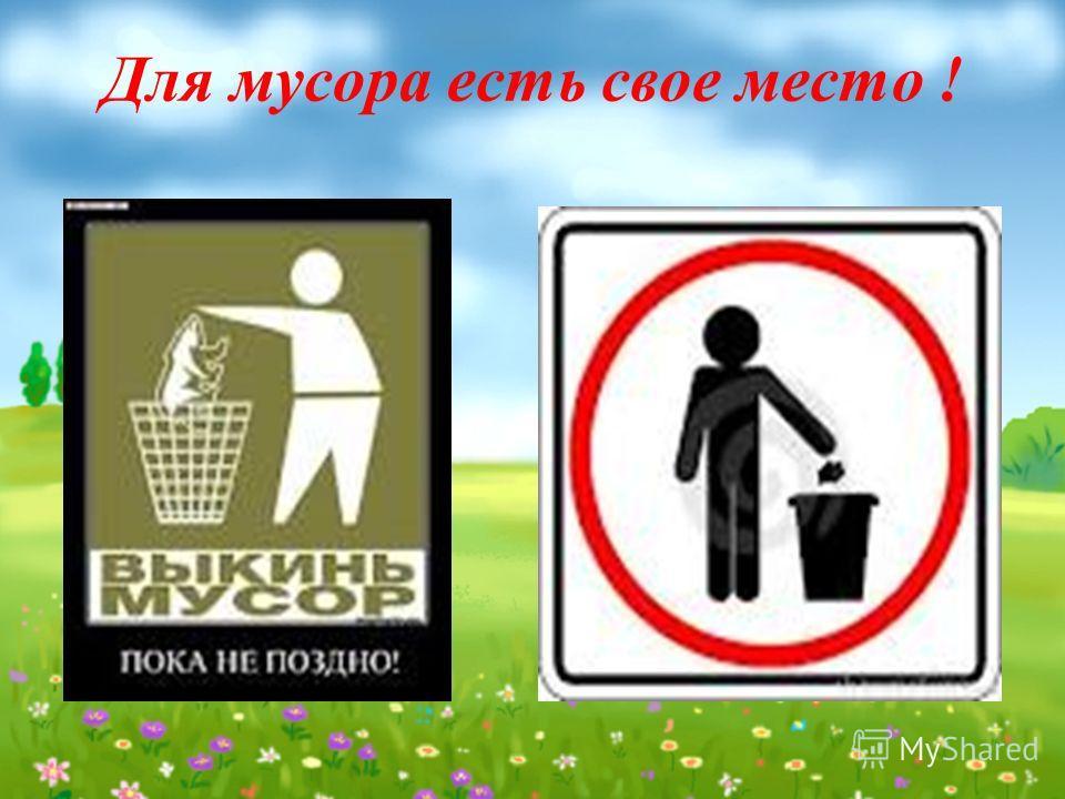 Для мусора есть свое место !