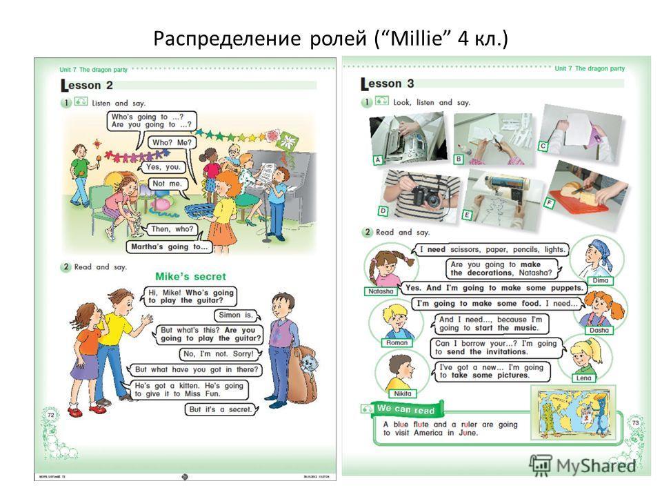 Распределение ролей (Millie 4 кл.)