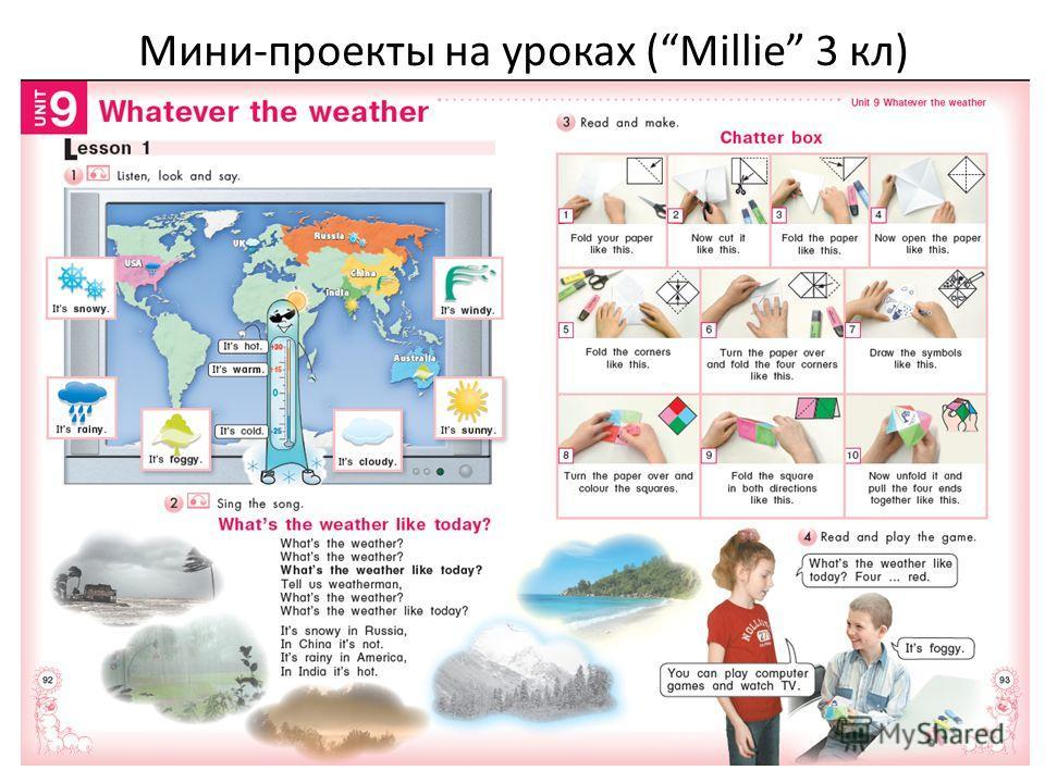 Мини-проекты на уроках (Millie 3 кл)