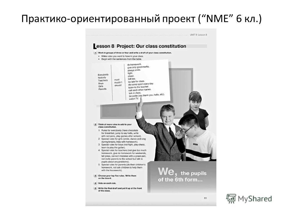 Практико-ориентированный проект (NME 6 кл.)