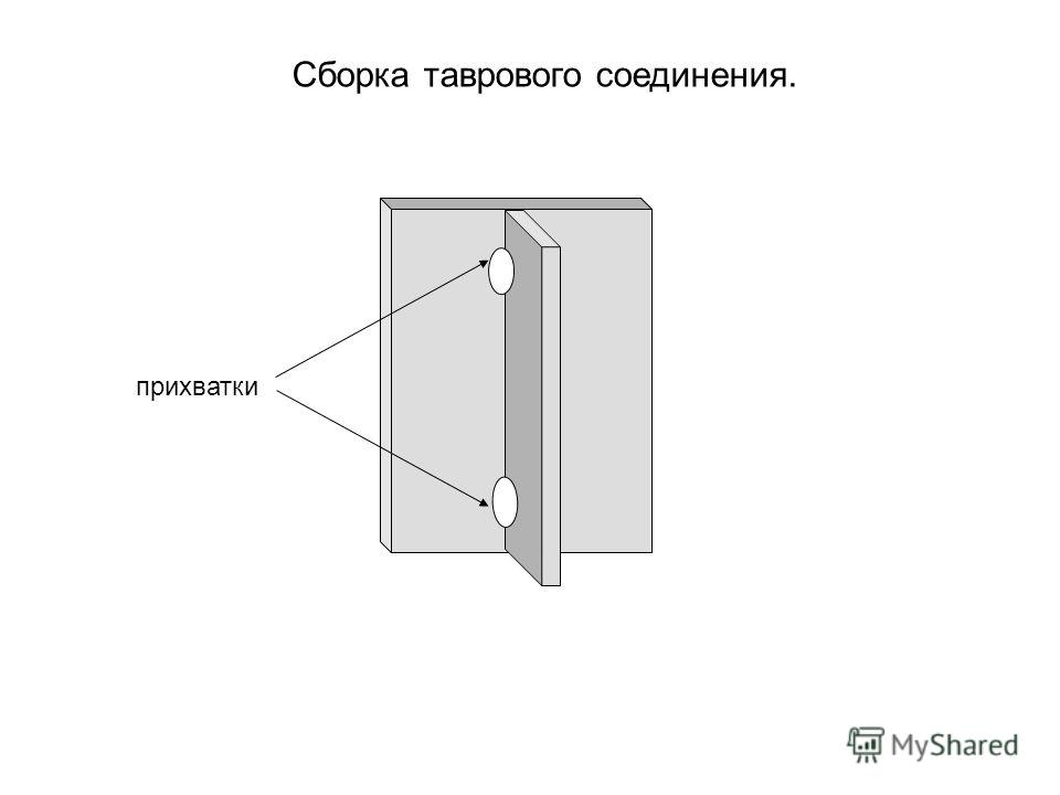 Сборка таврового соединения. прихватки
