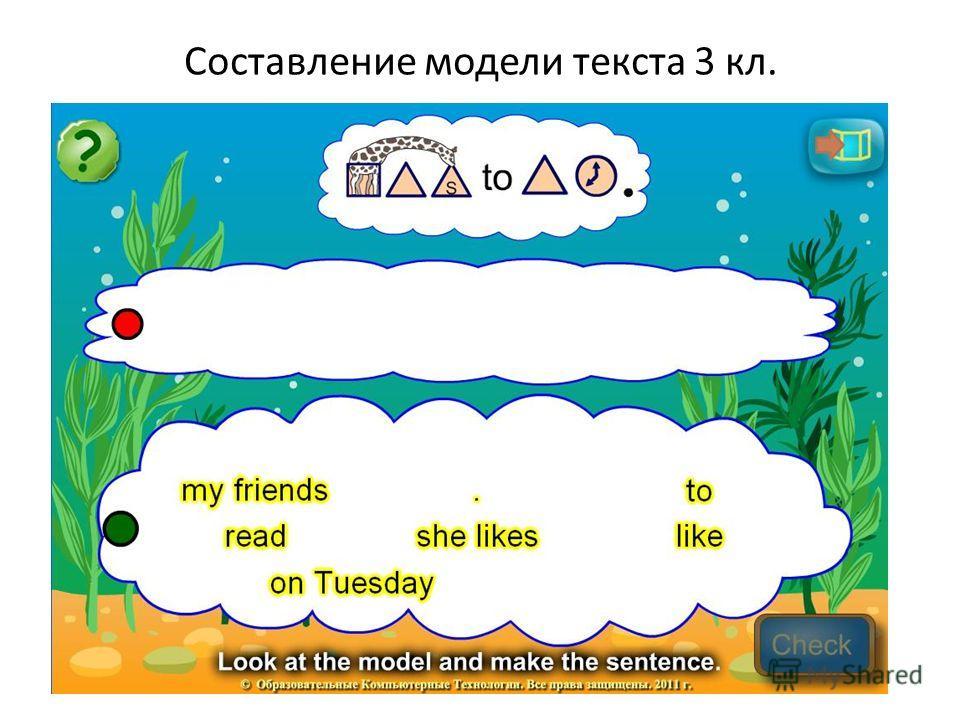 Составление модели текста 3 кл.