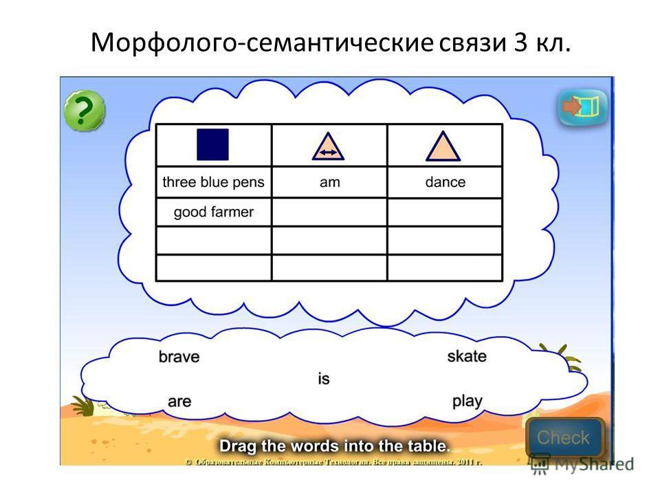 Морфолого-семантические связи 3 кл.