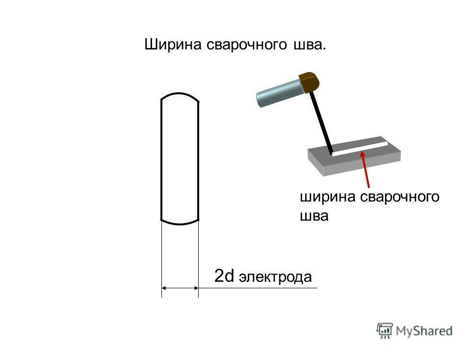 Ширина сварочного шва. 2d электрода ширина сварочного шва