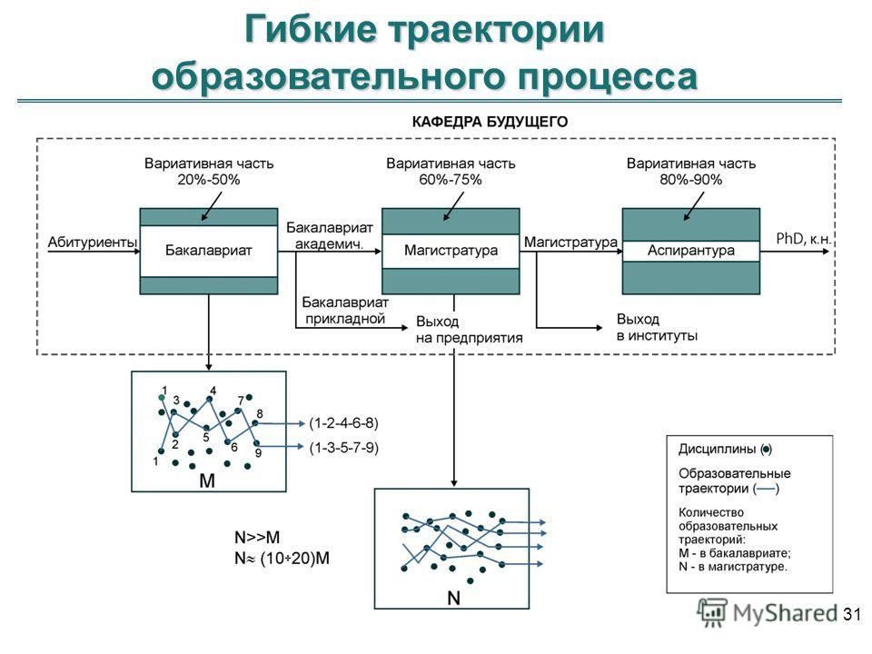 Гибкие траектории образовательного процесса 31
