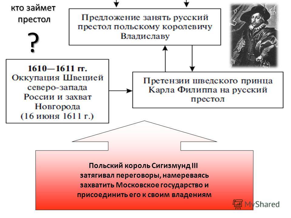 СЕМИБОЯРЩИНА Фактически власть нового правительства не распространялась за пределы Москвы: на западе от Москвы стояло войско Речи Посполитой во главе с гетманом Жолкевским, а на юго-востоке вернувшийся из- под Калуги Лжедмитрий II и литовский отряд