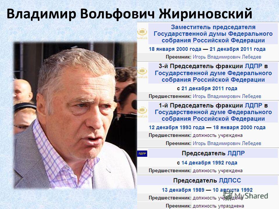 Владимир Вольфович Жириновский