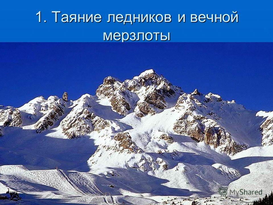 1. Таяние ледников и вечной мерзлоты