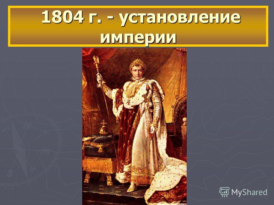 1804 г. - установление империи 1804 г. - установление империи