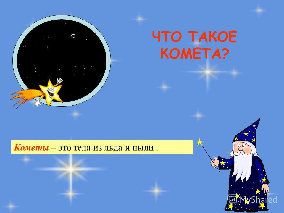 ЧТО ТАКОЕ КОМЕТА? Кометы – это тела из льда и пыли.
