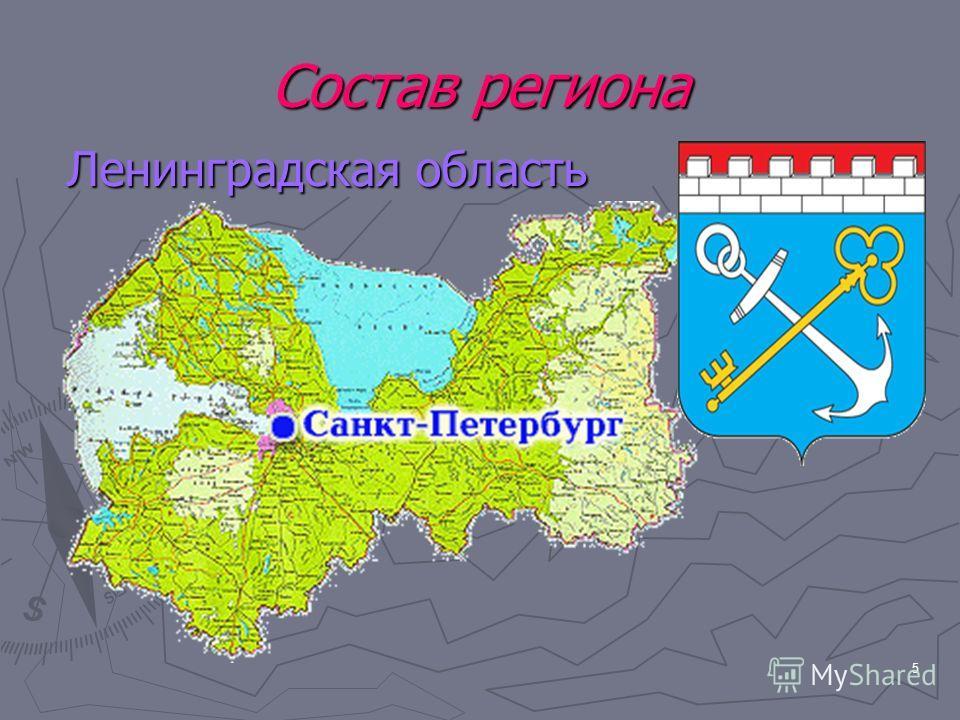 5 Состав региона Ленинградская область