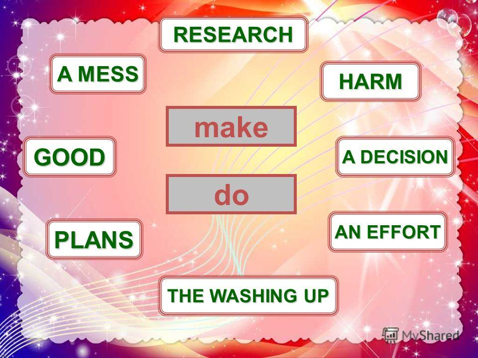 A MESS THE WASHING UP GOOD make HARM PLANS AN EFFORT A DECISION RESEARCH do