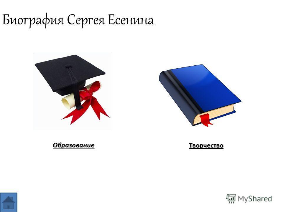 Биография Сергея ЕсенинаОбразование Творчество