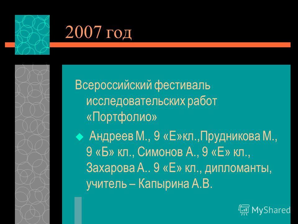 Подготовка компьютерных презентаций проектов к научно- практическим конференциям, олимпиадам, фестивалям.