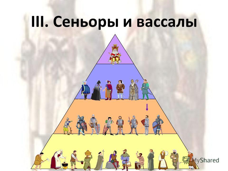 III. Сеньоры и вассалы
