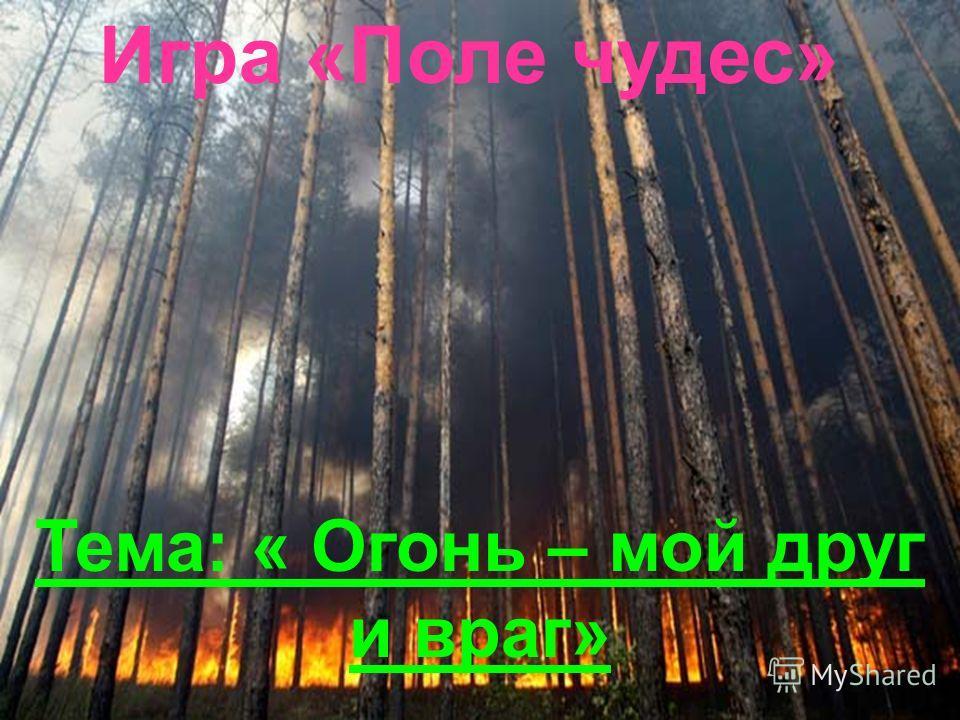 Игра «Поле чудес» Тема: « Огонь – мой друг и враг»