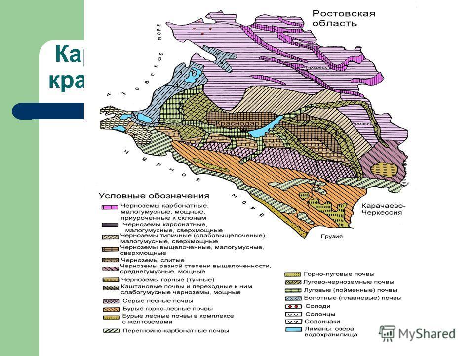 Карта почв Краснодарского края