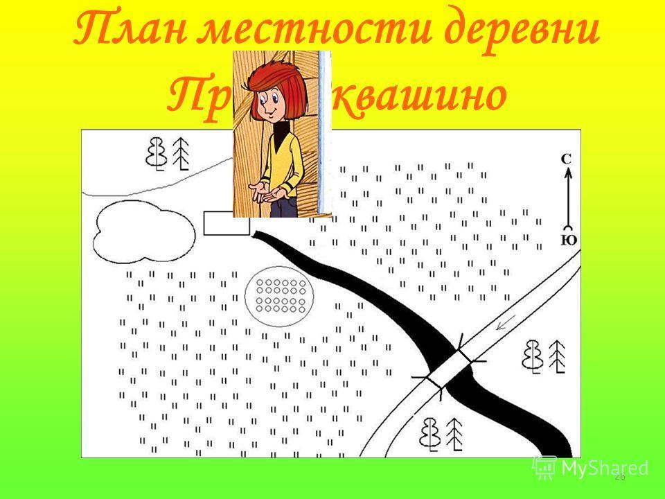 26 План местности деревни Простоквашино