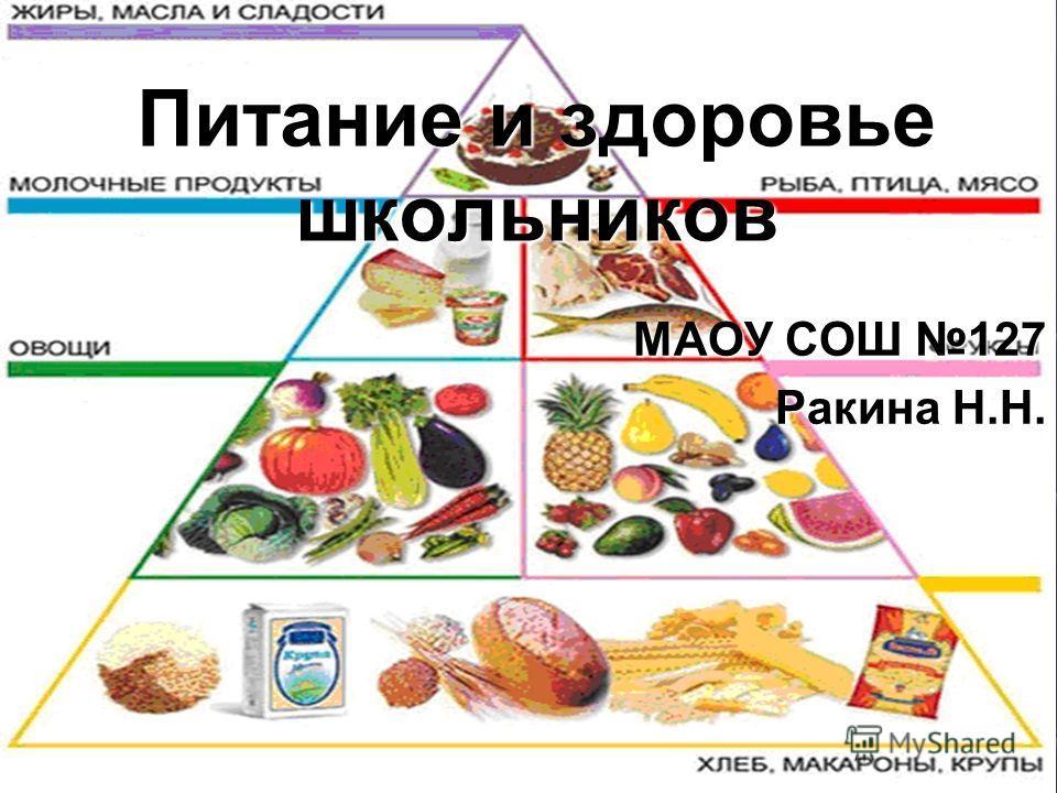Питание и здоровье школьников МАОУ СОШ 127 Ракина Н.Н.