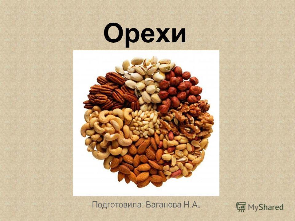 Орехи Подготовила: Ваганова Н.А.
