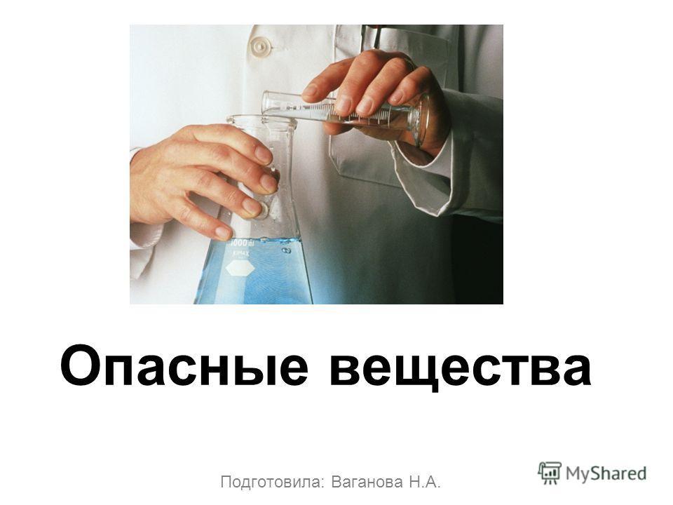 Подготовила: Ваганова Н.А. Опасные вещества