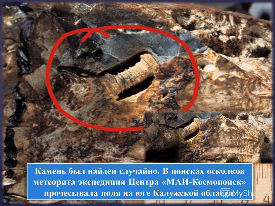 Камень был найден случайно. В поисках осколков метеорита экспедиция Центра «МАИ-Космопоиск» прочесывала поля на юге Калужской области.