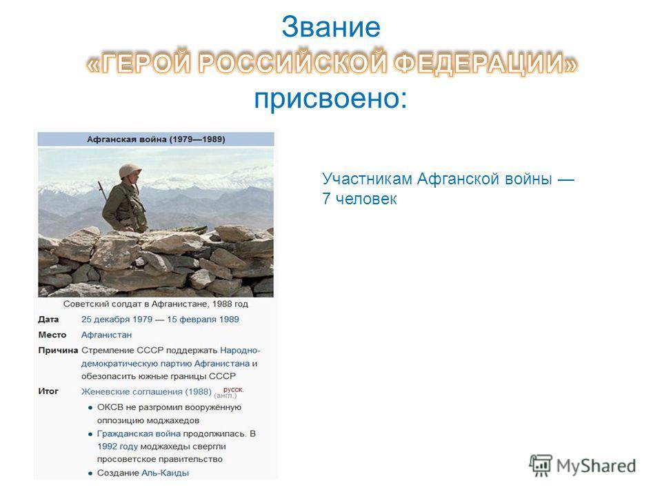 В последние годы появилось значительное количество Героев Российской Федерации (в 2012 году их число перевалило за 1000). По данным проекта, практически все они, за редкими исключениями, не известны широким слоям общественности и, в особенности, моло