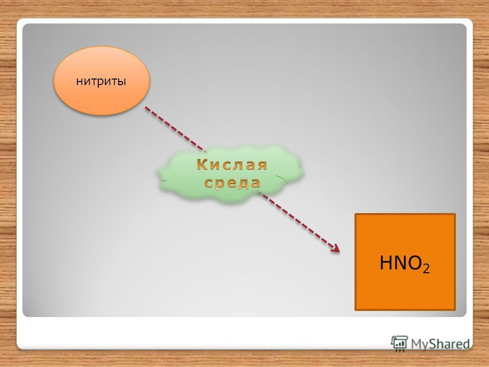 нитриты HNO 2