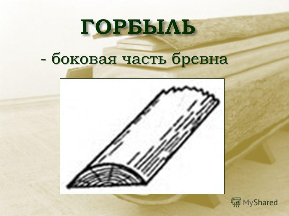 - боковая часть бревна