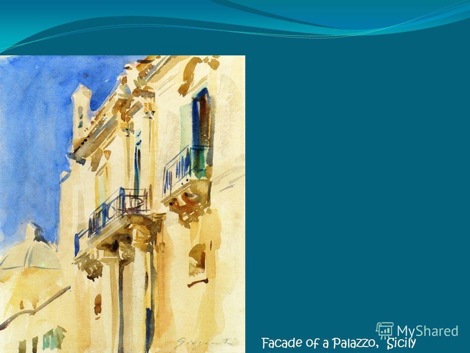 Facade of a Palazzo, Sicily