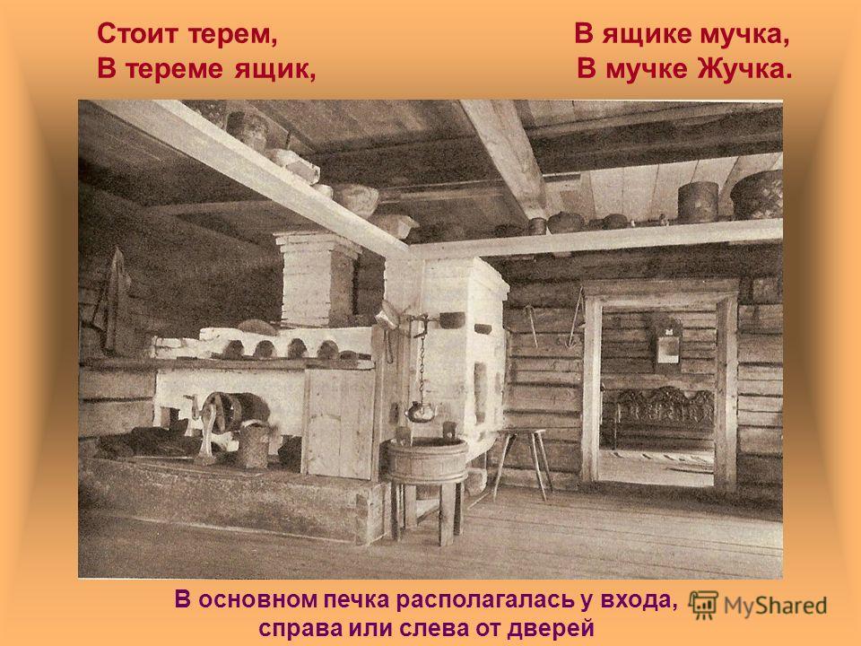 Знаешь ли ты? Каковы «главные службы» русской печи? Какое место занимала печь в избе? Что такое «красный угол»? Каковы предметы быта русской избы? Как назывались узоры, которыми украшались печи?